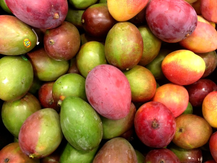 Mango is extremely healthy. It is low in calories (100-130 in one fruit), and is a very good source of fiber (one cup of mango equals 2.5-3.5 g). Also, mango is rich in antioxidants, vitamins A and C, and is believed to promote weight loss.
