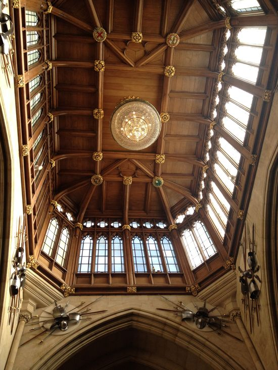 The ceiling in the Entrance Hall  in Windsor Castle // England