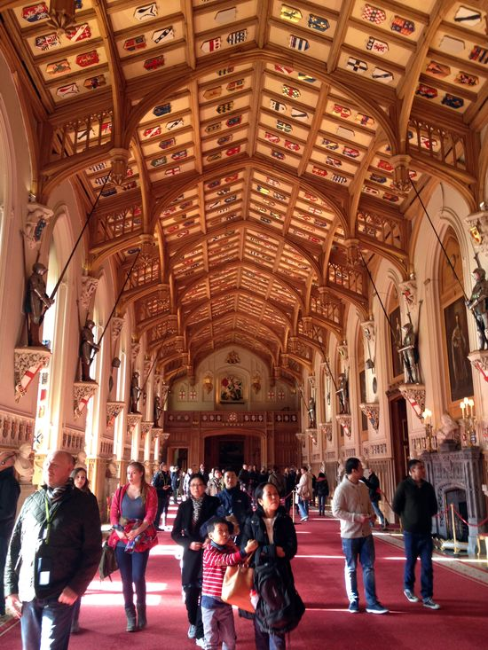 The famous Hall in Windsor Castle // England