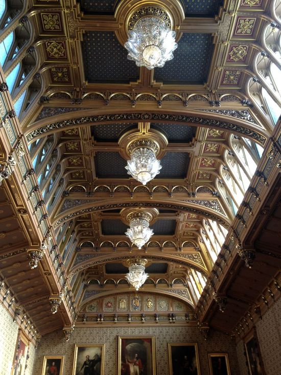 Gorgeous ceilings in Windsor Castle // England
