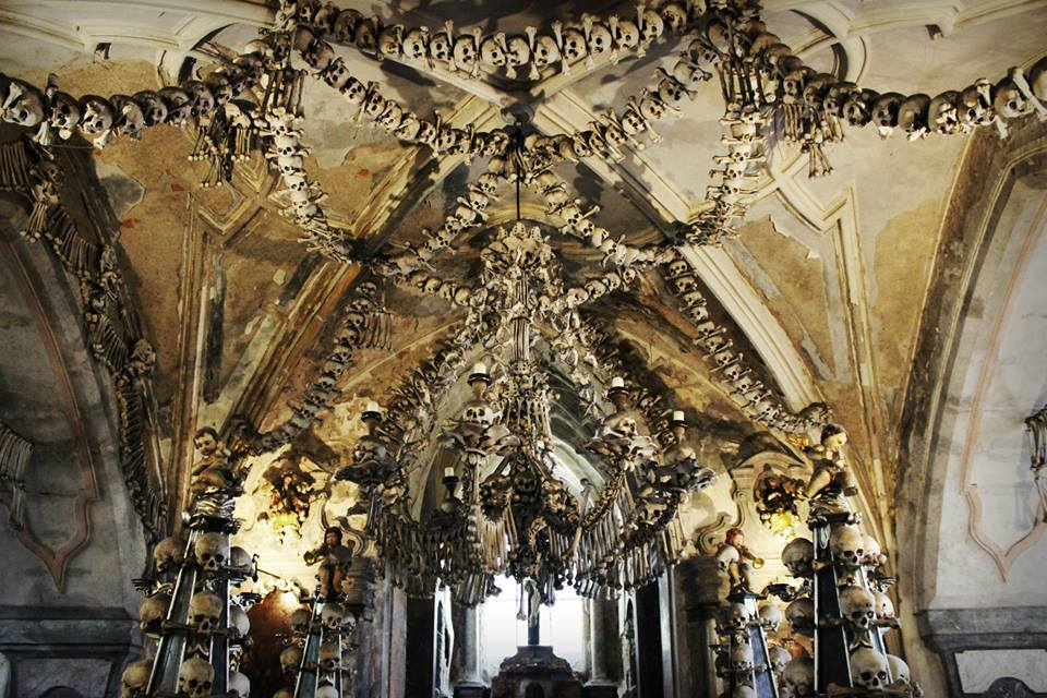 Kostnice Sedlec Ossuary in Czech Republic