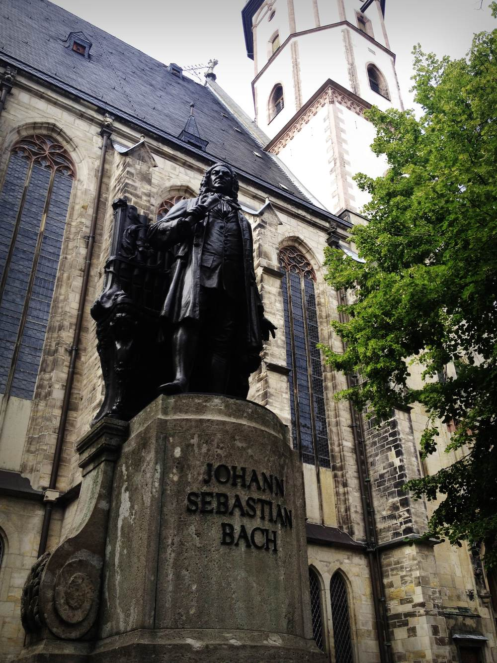 The monument to J.S.Bach in Leipzig, the city where the famous composer has lived for over 30 years.