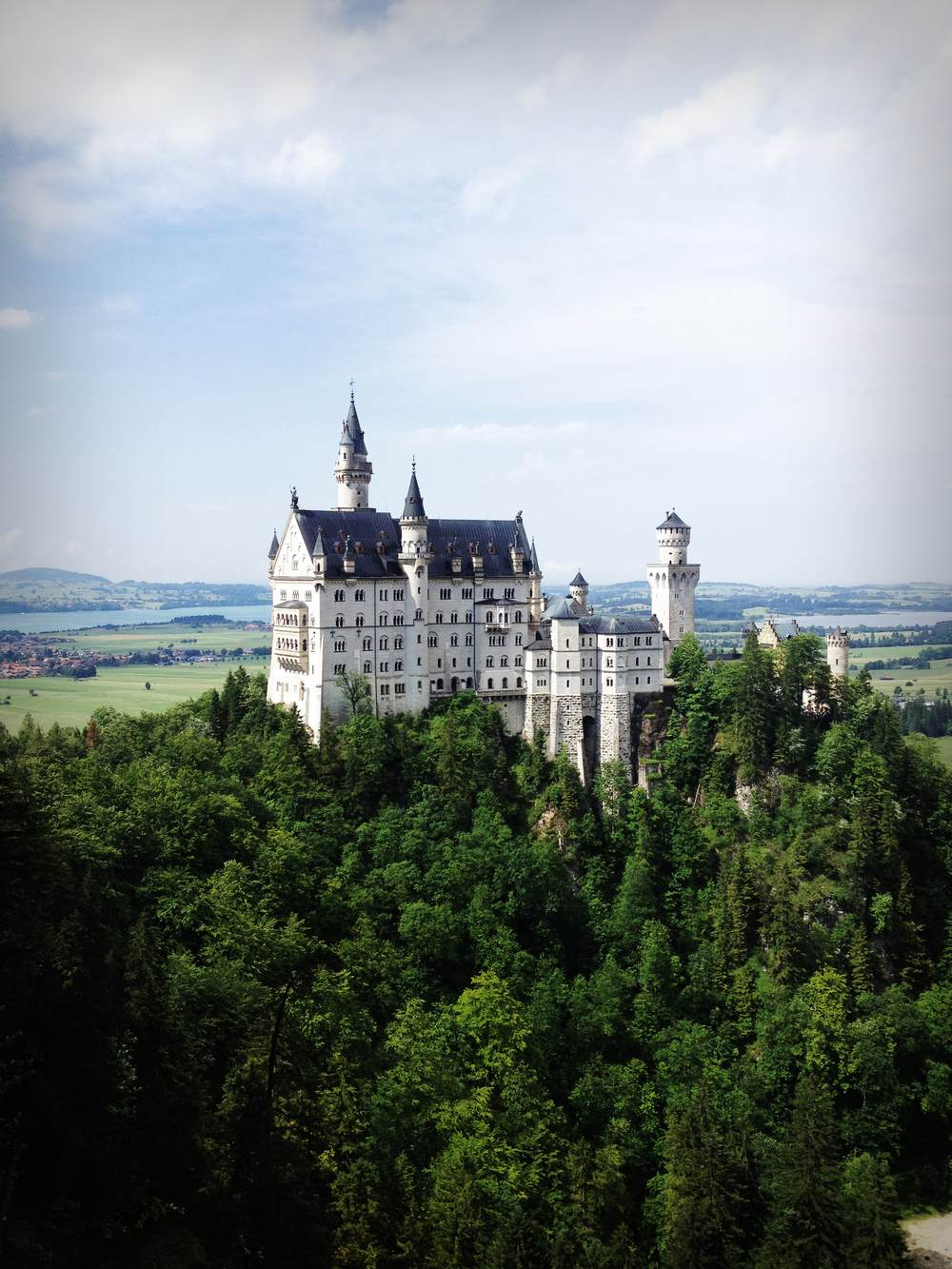 Gorgeous Schloss Neuschwanstein built by Mad King Ludwig in Bavaria, Germany