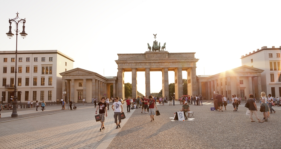 Tourists at Branderbug Gate in Berlin