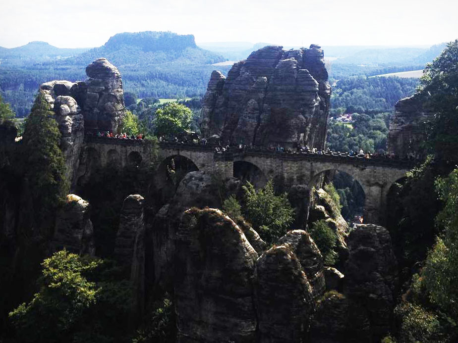 Bastei Bridge in Saxon Switzerland, Germany