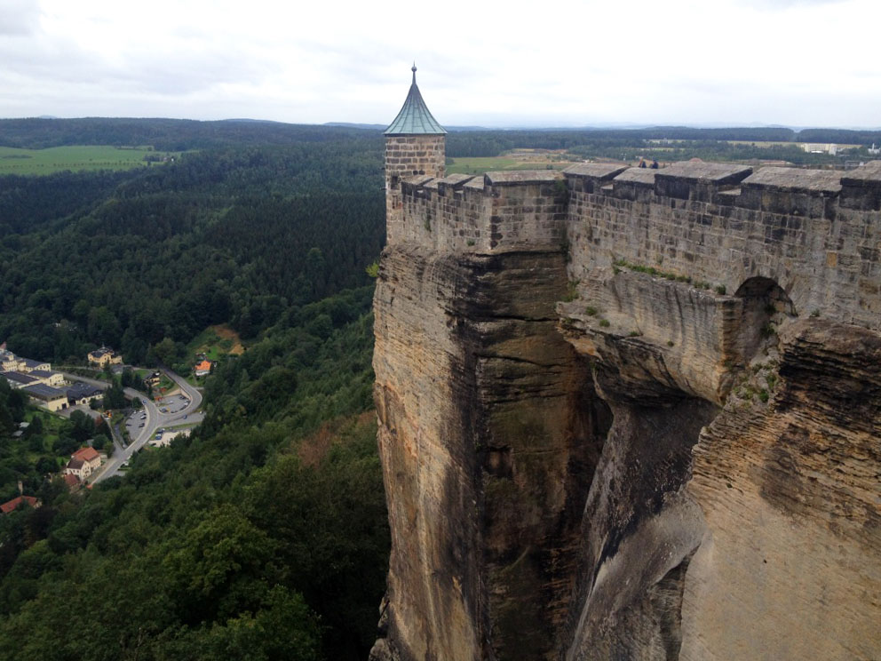 Konigstein Fortress is the largest fortress in Germany (and one of the largest in Europe) that attracts around 700,000 visitors every year.