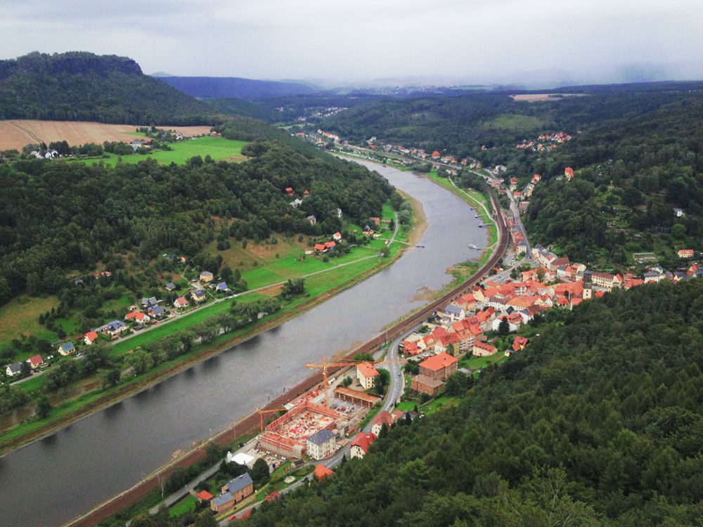 The view over Saxony from the Konigstein Fortress