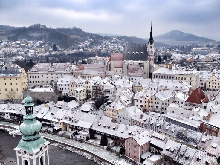 The view over gorgeous Cesky Krumlov, Czech Republic