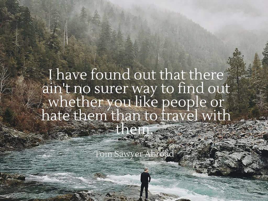 witty travel quotes mark twain