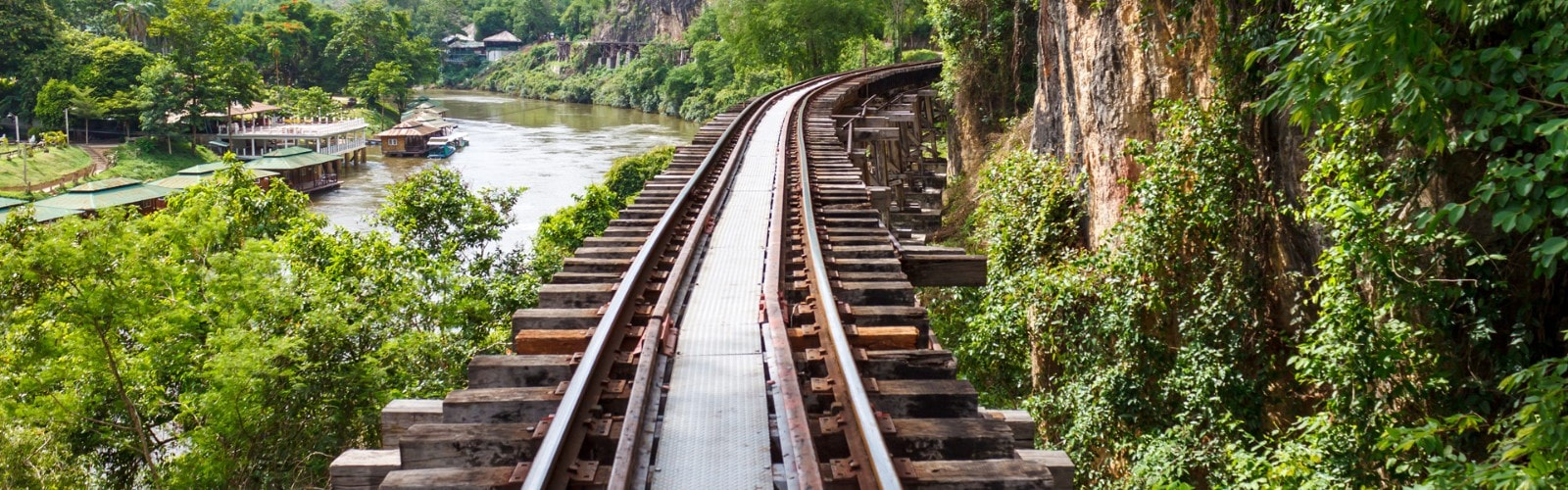Death railway in Thailand.
