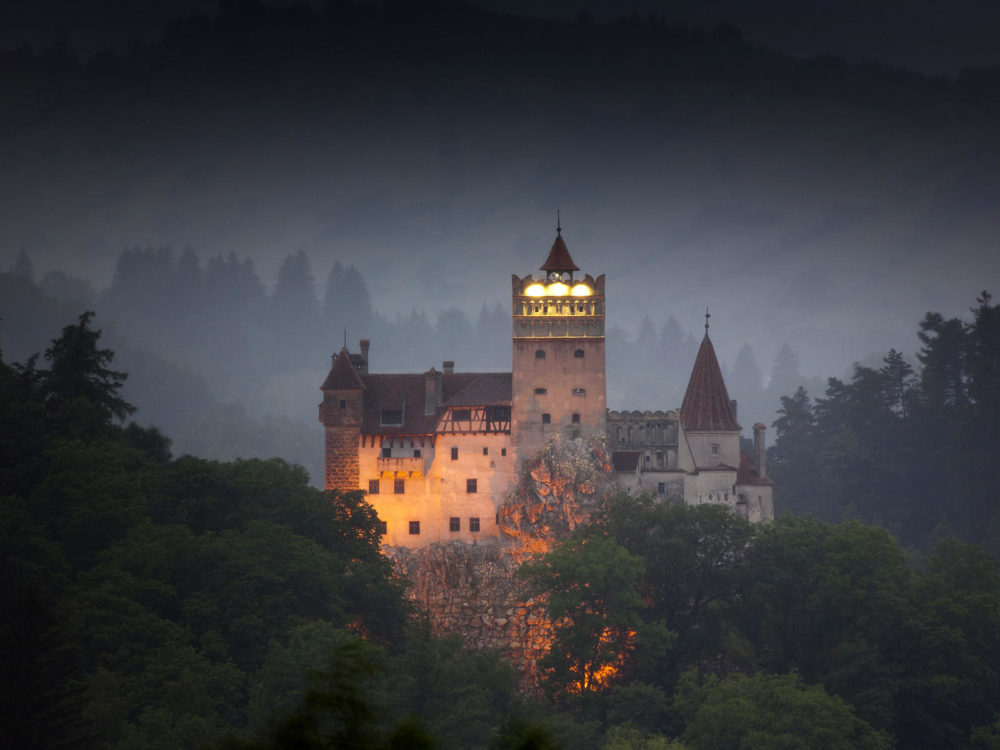 Bran Castle, Romania, is one of the most haunted castles in Europe.