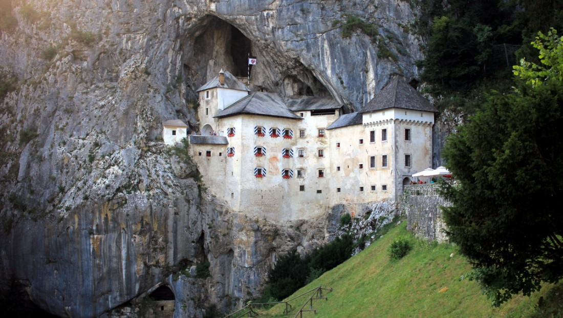Predjama Castle, Slovenia, is one of the most haunted castles in Europe.