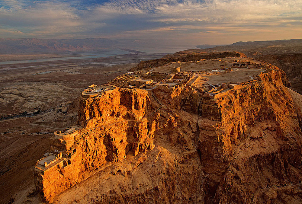 View over Masada, Israel