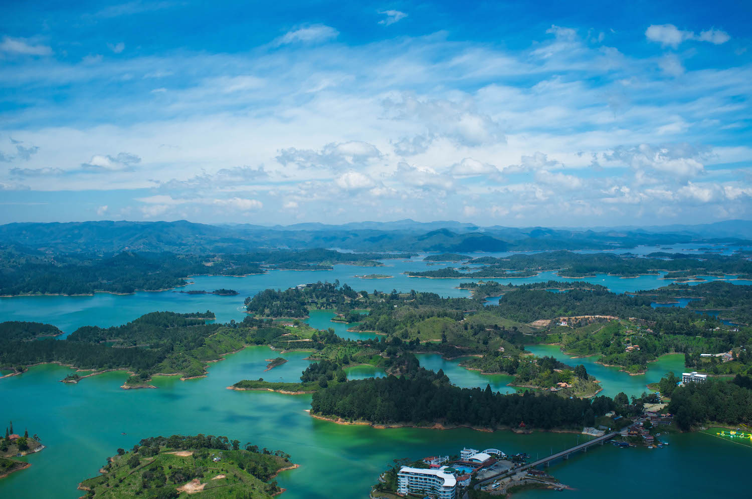 Guatape in Colombia, the view